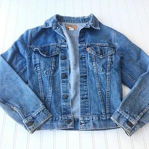 Vintage Levi's Orange Tab Jean Jacket Blue Denim